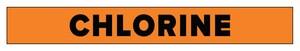 Accuform Signs 2-1/2 x 12 in. Chlorine Pipe Marker in Orange ARPK205SSD at Pollardwater