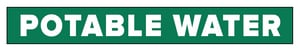 Accuform Signs 1 x 8 in. Potable Water Pipe Marker in Green ARPK575SSA at Pollardwater