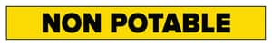 Accuform Signs 1 x 8 in. Non-Potable Water Pipe Marker in Yellow ARPK541SSA at Pollardwater