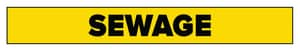 Accuform Signs 1 x 8 in. Sewage Pipe Marker in Yellow ARPK635SS