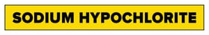 Accuform Signs 1-1/2 x 8 in. Sodium Hypochlorite Pipe Marker in Yellow ARPK649SS