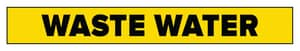 Accuform Signs 1-1/2 x 8 in. Waste Water Pipe Marker in Yellow ARPK729SSB at Pollardwater