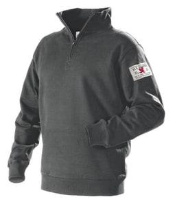 Blaklader GREY Sweatshirt With Half ZIP Extra Large *Z B365510609700XXL at Pollardwater