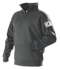 Blaklader Half Zip Sweat Shirt Grey XL B365510609700XL at Pollardwater