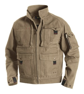 Blaklader Brawny Canvas Jacket Khaki 2XL B406213202800XXL at Pollardwater