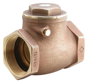 Not For Potable Use Brass Swing CK Valve X 3/8 FNPT M521T02 at Pollardwater