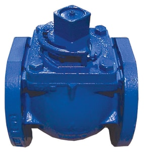 Milliken Valve Millcentric® Buna-N Coated Cast Iron, Buna-N, EPDM and 316 SS Stainless Steel 175 psi Flanged Wheel Handle Plug Valve M601N