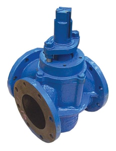 Milliken Valve Series 604E 6 in. Epoxy Coated Cast Iron, Buna-N, EPDM and 316 SS Stainless Steel 175 psi Flanged Wheel Handle Plug Valve M604E1U at Pollardwater