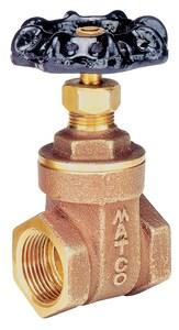 Matco-Norca 514LF 1 in. Brass Full Port Threaded Gate Valve M514T05LF at Pollardwater