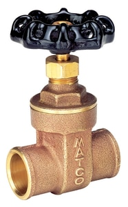 Matco-Norca 514LF 1 in. Brass Full Port Threaded x Sweat Gate Valve M514CLF