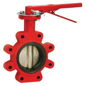 4 Cast Iron Stainless Steel BUNA Lug Butterfly Valve Lo MB5LGL4S at Pollardwater
