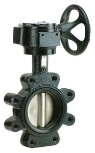 4 Cast Iron Ductile Iron BUNA Lug Butterfly Valve With GEAR MB5LGG4