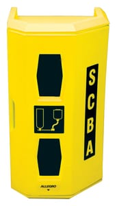 Allegro Industries 17 in. Hi-Viz Yellow LLDPE Heavy Duty Single SCBA Wall Case A4125 at Pollardwater