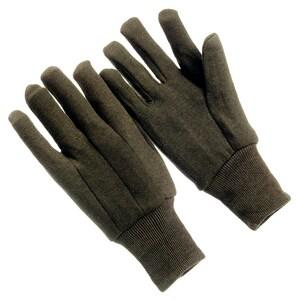 Seattle Glove Brown Jersey All-Purpose Cotton Glove Large Dozen SJ2109