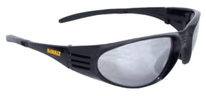 Ventilator™ Polycarbonate Safety Glasses with Black Frame in Silver Mirror Lens DDPG56B6D at Pollardwater