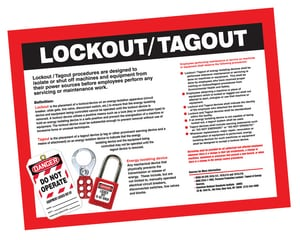 18X24 L/OUT/TAGOUT POSTER APST601