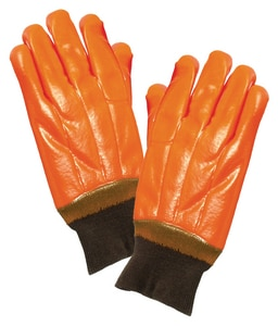 Seattle Glove Insulated High-Viz Orange PVC Glove Knit Wrist Large Pair S8940 at Pollardwater