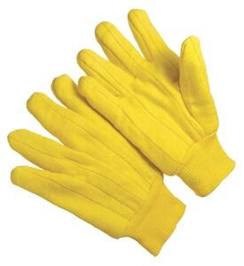 Seattle Glove Yellow Chore All-Purpose Cotton Glove Large Dozen SG3118K