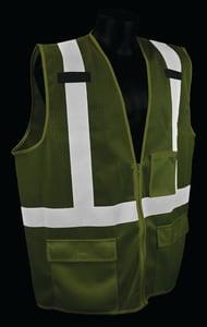 SAF VEST SURVEYOR CL2 3X HV GREE RSV272ZGM3X