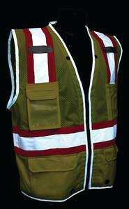 Radians Heavy Duty Two Tone Surveyor Mesh Safety Vest Class 2 Hi-Viz Green Large RSV6HGL at Pollardwater
