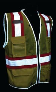 Radians Heavy Duty Two Tone Surveyor Mesh Safety Vest Class 2 Hi-Viz Green Medium RSV6HGM at Pollardwater