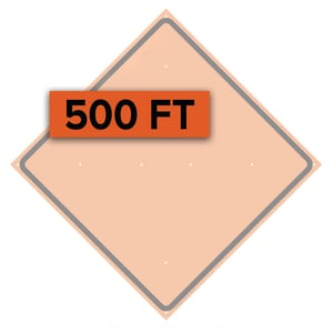 Traffix Devices 36 in. Reflective Vinyl Sign Overlay - 500 FT for the Word AHEAD T26036OFO500FT at Pollardwater