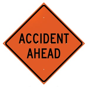 SIGN ACCIDENT AHEAD T26048EVHFAA at Pollardwater