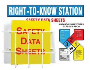 Accuform Signs 24 in. Right-to-Know Safety Station Board and Binder AZRS347 at Pollardwater