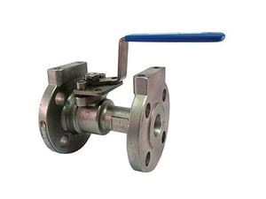 Milwaukee Valve 91 Series 1 in. Stainless Steel Reduced Port Flanged 150# Ball Valve MF91SS150RN1