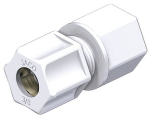 1/4 in. FPT Straight Polypropylene Compression Coupling Connector J2544PO at Pollardwater