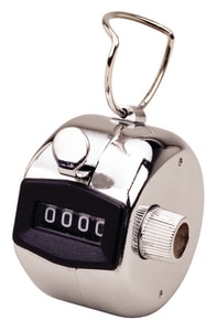 VEE GEE Scientific Polished Chrome Hand Tally Counter 0000 to 9999 V3509 at Pollardwater