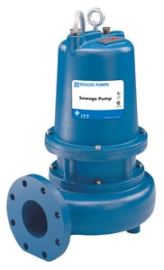 Goulds Pumps WSD3 Series 3 hp 620 gpm Flanged Non-clog Horizontal Sewage Pump GWS3034D4 at Pollardwater