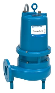 Goulds Pumps WSD3 Series 6-1/2 in. 1-1/2 hp 60 Hz/208V 15A Cast Iron Submersible Sewage Pump GWS1518D3