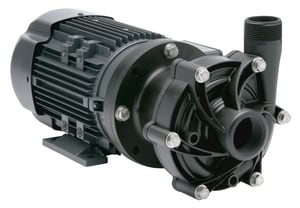 Finish Thompson 1-1/2 hp PVDF, PTFE and Viton Magnetic Drive Centrifugal Sealless Pump FDB10VTM207