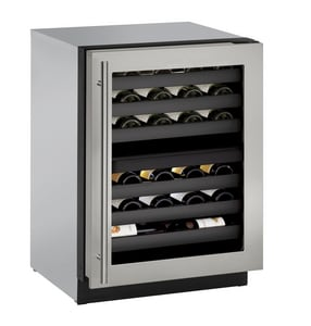 U-Line 4.7 cf Built-In Wine Storage in Stainless Frame UU3024ZWCS00B