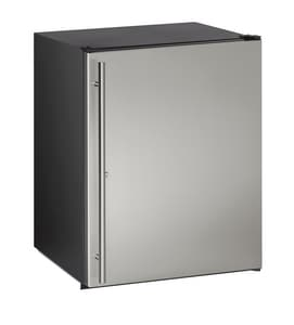 U-Line ADA Series Built-In and Freestanding Solid Door Refrigerator in Stainless UUADA24RS13B