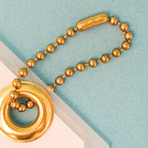 Accuform Signs 4-1/2 in. Brass Beaded Chain 100/Pk AHTL604