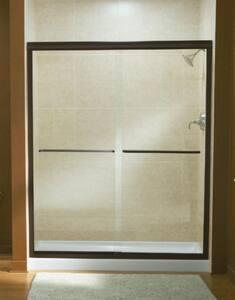 Sterling Finesse™ 70-31/100 x 59-5/8 in. Frameless Sliding Shower Door in Nickel S547559NG05