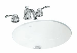 Sterling Wescott® 1-Bowl Undermount Lavatory Sink in Biscuit (Less Hole) SP44204096