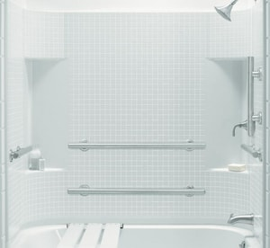 Sterling Accord® 60 x 75-1/2 in. Tub & Shower Wall  in White S711541230