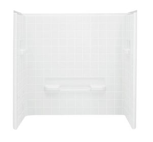 Sterling All Pro® 60 in. Tub and Shower Unit in White S610441060
