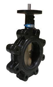 Milwaukee Valve ML Series 2-1/2 in. Ductile Iron EPDM Bare Stem Butterfly Valve MML133EL