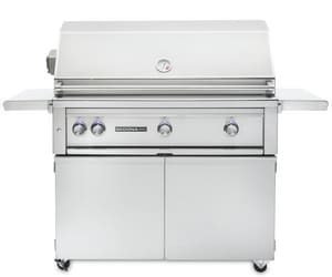 Lynx Sedona 25-5/16 x 49-1/4 in. 69000 BTU Stainless Steel Spark Ignition Freestanding Grill with Prosear Infrared 1-Burner LL700PSFRLP