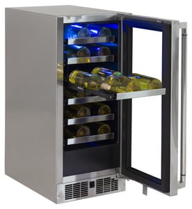 Lynx 21-1/2 in. 15A 2.7 cf Right Hinge Wine Cooler in Stainless Steel LLM15WINER