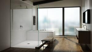 JACUZZI® Water Rainbow® Two Handle Roman Tub Faucet in Brushed Nickel JMP33826