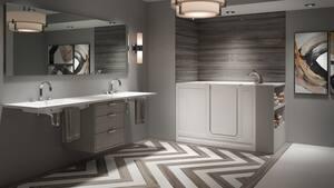 JACUZZI® Finestra® 60 x 36 in. Acrylic Rectangle Alcove Bathtub with Left Drain in White JFIN6036BLXXXXW