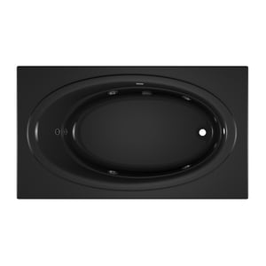 JACUZZI® Nova™ 72 x 42 in. Acrylic Rectangle Skirted Whirlpool Bathtub with Right Drain and J2 Basic Control in Black JNOV7242WRL2HXB