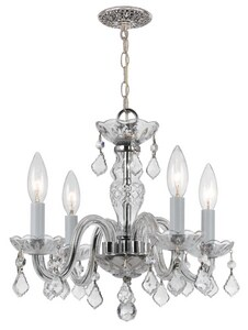 Crystorama Lighting Tradcry 60W 4-Light Candelabra E-12 Incandescent Chandelier in Polished Chrome C1064CHCLI