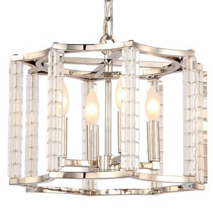 Crystorama Lighting Carson® 60W 4-Light Candelabra E-12 Base Chandelier in Polished Nickel C8854PN