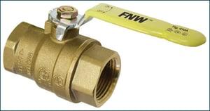 FNW® Figure 410A 1/4 in. Brass Full Port Threaded Ball Valve FNW410AB